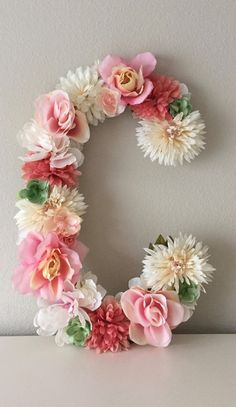 """Shipping this lovely letter """"C"""" to Abigail in St. 🌿🌿🌿 Link in bio. Flower Letters, Flower Wall, Girl Nursery, Nursery Decor, Nursery Letters, Nursery Monogram, Monogram Wedding, Wedding Monograms, Floral Nursery"""