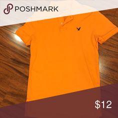 Orange American Eagle polo Orange American Eagle short sleeve polo American Eagle Outfitters Shirts Polos