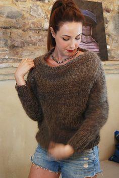 Maglione in mohair/ lavorato a mano / Le robe di di LeRobeDiManu, €105.00