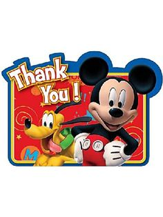 8-Count Mickey Postcard Thank You Notes $2.53