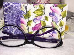 Colorful Purple Songbirds Glasses Case Eyeglass Case Sunglass Pouch Slip Style Sunglasses Case Eyeglasses Case (8.50 USD) by PhenomenalWomenShop