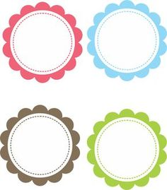 Scalloped grátis para baixar - Cantinho do blog Layouts e Templates para Blogger Printable Labels, Printable Stickers, Free Printables, Diy And Crafts, Crafts For Kids, Arts And Crafts, School Labels, Circle Template, Bottle Cap Images