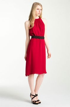 L'AGENCE Shirred Dress | Nordstrom  (wish it had sleeves)