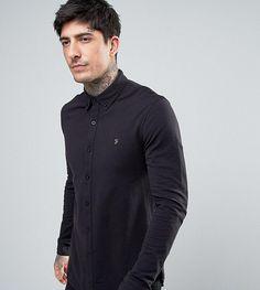 Farah Pique Jersey Shirt Exclusive in Black - Black