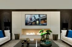 TV fireplace set, a true trend in interior design. But how should a Television be installed beside or above a fireplace or ethanol burner? Bioethanol Fireplace, Fireplace Set, Fireplace Remodel, Living Room With Fireplace, Fireplace Design, Home Living Room, Living Room Designs, Family Room, Interior Design