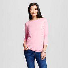 Women's Boatneck Pink - xs