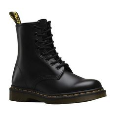 31931bb5d16e5 Dr. Martens 1460 8-Eye Boot - Black Smooth Boots Scarpe Di Pizzo Nere