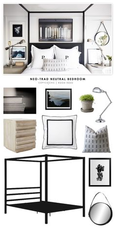 Crystal Palacek's Black and White Master Bedroom recreated for less by Copy Cat Chic by @audreycdyer