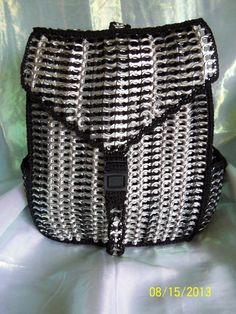 Black Poptab Backpack by PoptabsPurses on Etsy, $100.00
