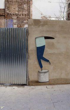 ESCIF http://www.widewalls.ch/artist/escif/ #Escif #graffiti #streetart #urbaninterventions #murals