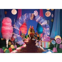 Cotton Candy Kit (set of Candy Themed Party, Candy Land Theme, Candy Land Party, Themed Parties, Homecoming Themes, Rose Bonbon, Dance Themes, Candy Decorations, Willy Wonka