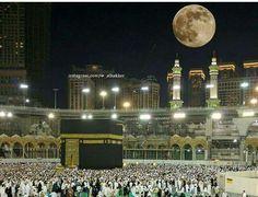 Beautiful n amazing super moon ☽ view