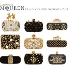 """Alexander McQueen Clutches for Autumn/Winter 2013"" by alexandermcqueen on Polyvore"
