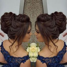 Gorgeous Wedding Hairstyles Half up Half down – Chignon – Makeup, Nails and Beauty – Grandcrafter – DIY Christmas Ideas ♥ Homes Decoration Ideas Quince Hairstyles, Bride Hairstyles, Hair Upstyles, Wedding Hairstyles Half Up Half Down, Prom Hair Updo, Quinceanera Hairstyles, Elegant Wedding Hair, Elegant Hairstyles, Bridal Hair