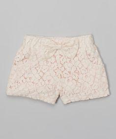 Pink Lace Shorts - Toddler  Girls