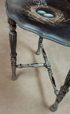 Hand Painted Occasional Table | http://www.ellenleigh.com/hand-painted-occasional-table/