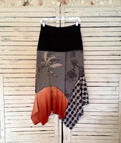 Hey, I found this really awesome Etsy listing at https://www.etsy.com/listing/230742687/tropical-gray-coral-skirt-m-upcycled