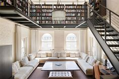 Incredible Modern Penthouse With Rooftop Swimming Pool In NY   Ceiling Library