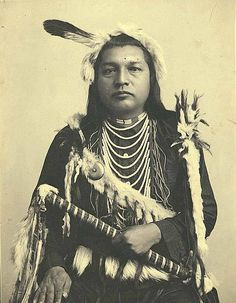 Paul Shoaway, Umatilla Indian, in ceremonial dress, Washington, ca. 1897    Photographer:   La Roche, Frank. Pinned by indus® in honor of the indigenous people of North America who have influenced our indigenous medicine and spirituality by virtue of their being a member of a tribe from the Western Region through the Plains including the beginning of time until tomorrow.