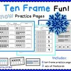 This is a set of 6 ten frame worksheets. Students will practice identifying and showing numbers 1-20 using ten frames.  The snowflake theme makes i...