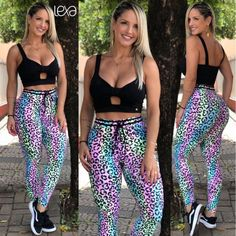 Legging Laço Algodão Doce na Lexafitwear. Cute Athletic Outfits, Zumba, Workout Wear, Sexy Body, Top Cropped, Vest, Bikinis, Leggings, Luxury