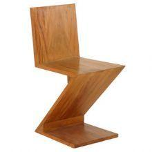 Comprar Cadeira Zig Zag em madeira de demolição. :: Velha Bahia - Loja online móveis e objetos de decoração