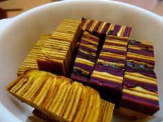 Kek Lapis Chocolate Blueberry (Chocolate & Blueberry Layer Cake)