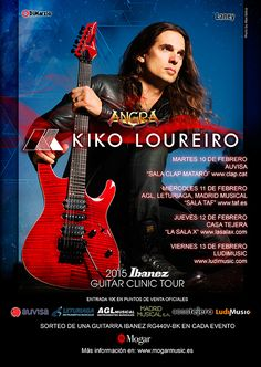 Nos complace anunciar la gira de clinics de Kiko Loureiro (Angra) por España y Portugal de la mano de MOGAR MUSIC IBERICA