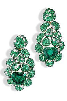 de Grisogono - Emerald and Diamond Earrings