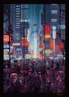 Blade Runner 2013 on Behance #cyberpunk #illustration