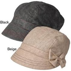 @Overstock - A small bow accent highlights the short brim on this linen cap by Adi Designs. This cap is finished with an elastic back for easy styling and comfort.http://www.overstock.com/Clothing-Shoes/Adi-Designs-Womens-Side-Bow-Accent-Short-Hard-Brim-Hat/5814841/product.html?CID=214117 $22.99