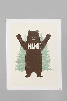 Matthew J. Parsons For Society6 Bear Hug? Print