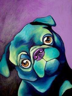 POLLY the Pug by barkingart on Etsy, $375.00
