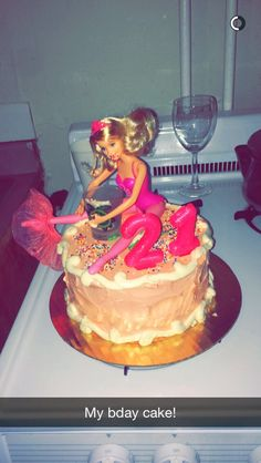 21st Birthday drunk Barbie cake!
