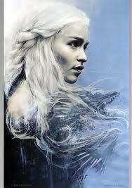 Daenerys Targaryen (Emilia Clarke) – Game of Thrones – Kunst von Rob Prior … - Tattoos Designs Clarke Game Of Thrones, Game Of Thrones Art, Emilia Clarke, Daenerys Targaryen Art, Khaleesi, Paint Program, Corel Painter, Mother Of Dragons, Cultura Pop