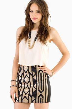Bianca Beaded Mini Skirt