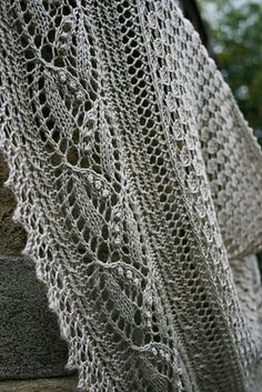 """""""Miss Dashwood"""" is a second shawl in a series of """"Jane Austen Heroines"""". It is a timeless and feminine piece with intricate design. Knitting Charts, Knitting Patterns, Crochet Patterns, Shawl Patterns, Knit Or Crochet, Knitted Shawls, Shawls And Wraps, Knitting Projects, Ravelry"""