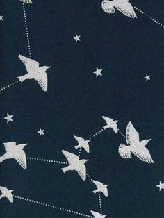 A murmuration of starlings swoop among star constellations in this romantic design from the Saturday Night/Sunday Morning collection by Mini Moderns. The contemporary and pretty design would look great as a feature wall or indeed when used to decorate an entire room in deep navy blue with dusky silver detailing.  This is a high quality paper and benefits from being Paste the Wall application which makes it extremely easy to work with, hang and also to remove at a later date.