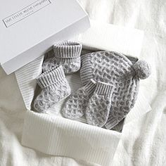 Simple gorgeous Cashmere Cable Gift Set. The prefect baby shower gift.