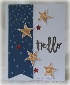 Gina's Little Corner of StampinHeaven: It's National Stamping Month - Hello Life! - Cardmaking