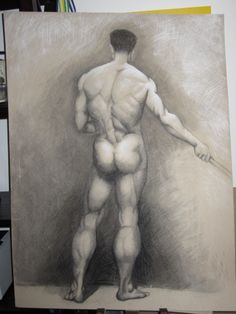 First charcoal figure drawing