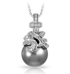 Fiona grey pendant
