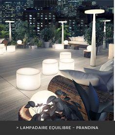 Illuminez vos soirées d'été : lampadaire extérieur Équilibre - Prandina