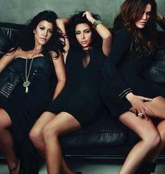 My favorite sisters . Kourtney , Kim , and Khloe Kardashian .