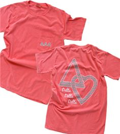 Delta Love Pocket Tee with a touch of chevron  --  simple!