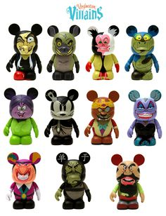 Disney Vinylmation Villains..I soo want to start collecting these. I also collect the Disney pins.