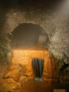 """5. AQUAE SULIS HABENT CALIDUM FONTEM - Before visiting the Great Bath, check out where the bath was powered from. This hot spring provided the water used for the bath. This spring was often said to have """"healing powers""""."""