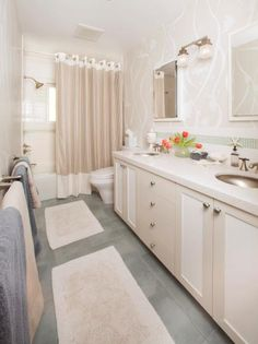 White And Cream Bathroom With Coastal Accents Photo Library Hgtv