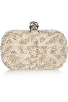 Alexander McQueen - Britannia skull embroidered box clutch. Nice except the skull!