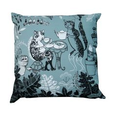 Lush Designs cat cushion from Illustrated Living